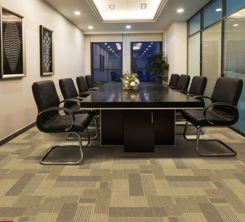 Office 10mm Nylon Carpet Tiles With Nonwoven Backing